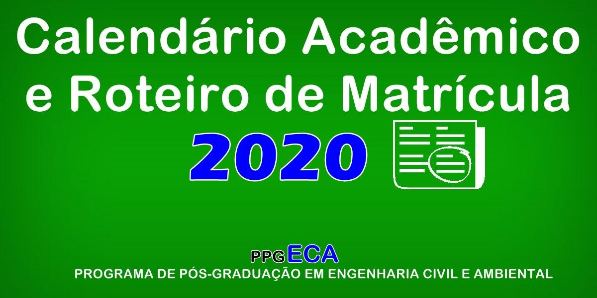 Matrículas para o período 2020.1
