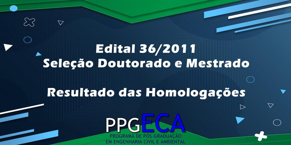 Homologação das inscrições - Edital 36/2021